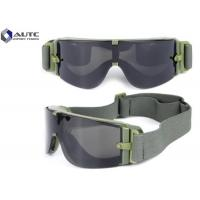 Buy cheap Bulletproof Military Safety Glasses Anti Fog Colorful Easy Cleaning Fashion Design product