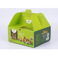 Buy cheap Take Away Green Paper Packaging Boxes Glossy Lamination And Soft Crease For Food Packaging from wholesalers