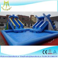 Hansel top sale inflatable square swimming pool for water party 107484106 Square swimming pools for sale