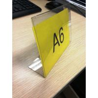 Buy cheap L Shaped Acrylic Pop Displays , Plexiglass Price Tag Holder product