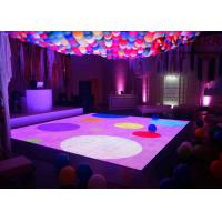 Buy cheap Portable 3D Interactive LED Dance Floor Rental Disco Lighted Floor Panels from wholesalers