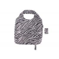 Buy cheap Black And White Zebra Stripes Folding Tote Bag , Large Capacity Eco Shopping Bag from wholesalers