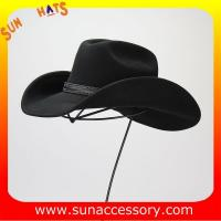 Buy cheap 1284 Sun Accessory customized western hats 100% wool felt cowboy hats for men from wholesalers
