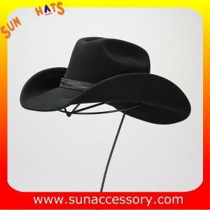 China 1284 Sun Accessory customized western hats 100% wool felt cowboy hats for men on sale