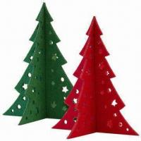 Buy cheap Small Christmas Tree in 3mm Felt, Laser-cut of Size 15 x 13cm from wholesalers