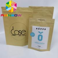 Buy cheap Coffee Weeds Stand Up Pouch Bags Custom Printed Paper Packaging Kraft Paper from wholesalers