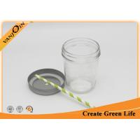 Buy cheap Wide Mouth 400ml Mason Taper Glass Storage Jars with Lids For Caviar Food Jam product