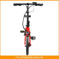 Buy cheap Red White Electric Folding Bike Electric Boost Bicycle 250w Brushless Motor from wholesalers