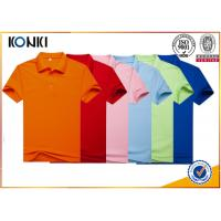 Buy cheap Men Colorful Custom Polo Shirt With Heat Transfer / Silk Screen Print Logo from wholesalers