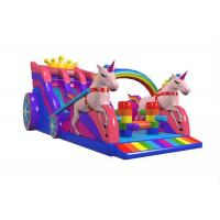 Buy cheap Inflatable Princess Unicorn Carriage Slide , Kids Playground Inflatable Slide from wholesalers