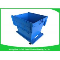 60L Large Plastic Storage Boxes With Lids , Plastic Shipping Containers With Attached Lids