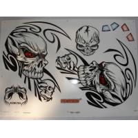 China screen printing motorcycle sticker on sale