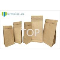 Buy cheap Brown Kraft Paper Rice Paper Stand Up Zip Pouches For Dried Food 450g from wholesalers