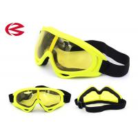 Buy cheap Customized Yellow Lenses Motorcycle Riding Goggles Mirror Coating Dust Protection from wholesalers