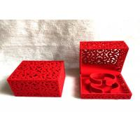 Buy cheap Red Luxury Velvet Jewelry Box Free Standing For Bangles 100*100*70 Mm from wholesalers