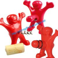 Buy cheap Happy Man Set of Bottle Opener, Bottle Stopper and Corkscrew from wholesalers