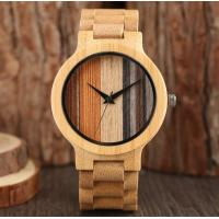 Buy cheap Valentines Day Gift Bamboo Wooden Watch With Bamboo Strap And Quartz Movement from wholesalers