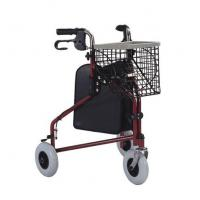 Buy cheap 8 x  2 TPR round castors 3 wheel foldable Metal Rollator walker (economic) 255mm from wholesalers