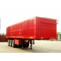 Buy cheap 3mm Diamond Plate box semi trailer for cargo transportation close - ended product