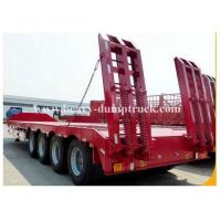 Buy cheap Hydraulic low bed semi Trailer in mechanical suspension in 3  4  5 axles with warranty from wholesalers