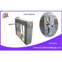 Buy cheap Automatic 304 stainless steel pedestrian security gates With Swallow Coin Machine from wholesalers