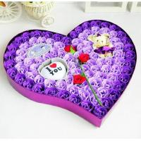 Buy cheap Soap flowers in heart shape gift box, handmade flower soap box set in mixed various color from wholesalers
