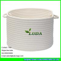Buy cheap LUDA 2015 hot sale home cotton cord storage basket white stroage bin bag from wholesalers