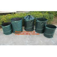 Buy cheap 200L Foldable leaf bag garden waste bag reciclyng garden leaf bags with wheels,Reusable Pop-up Garden Bag Leaf Container from wholesalers