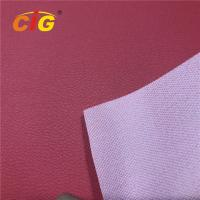 Buy cheap Customized PVC Artificial Leather Upholstery Fabric Mesh Backing For Handbag / Sofa product