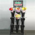 Buy cheap Black Metal Display Rack Retail Merchandise Displays For Flower / Plants from wholesalers