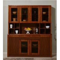 Buy cheap Mothproof Solid Wood Kitchen Cabinets Dark Walnut Color With Baked - Painted 8 Doors from wholesalers