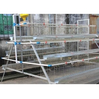 Buy cheap H Type Layer Farming Cage , 4 Tiers 128 Birds Powder Coated Poultry Battery Cage from wholesalers