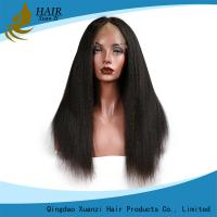 Buy cheap Black Women Human Hair Lace Front Wigs  Kinky Straight , Thick Lace Frontal Closure 13 x 4 from wholesalers