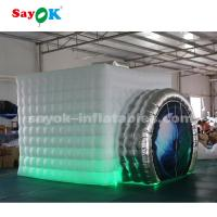 Buy cheap White And Silver Camera Shaped Inflatable Photo Booth For Trade Show from wholesalers