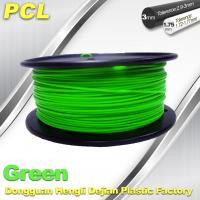 Buy cheap Green Low Temperature 3D Printer Filament , 1.75 / 3.0mm PCL Filament product