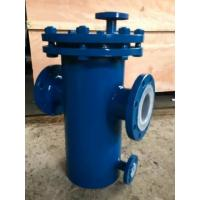 Buy cheap Carbon Steel Basket Water Meter Strainer Flanged End Connect With PTFE Lined from wholesalers
