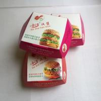 China Disposable Paper Takeaway Box Clamshell Pack Burger Packaging Box Restaurants on sale