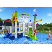 Buy cheap Smooth Joints Water Park Equipment Commercial Slide Beautiful Rainbow Color from wholesalers