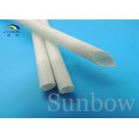 Buy cheap 7 mm Silicon Fiberglass Insulated Tube Braided Fiberglass Sleeve UL VW-1 200 ℃ White from wholesalers