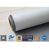 Buy cheap 1 Side 18 Oz Grey Silicone Coated Fiberglass Fabric for Heat Insulation Pipe Cover from wholesalers