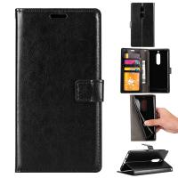 Buy cheap Soft Black Color Slim Crazy Horse Leather Cases Wallet Inside For Nokia 8 from wholesalers