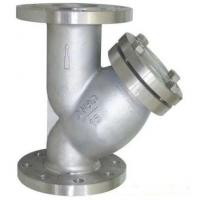Buy cheap PN16 Raised Face Flange End Industrial Water Strainers Cast Steel Body With 40 Microns SS304 Filter Element from wholesalers