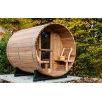 Buy cheap Custom circular dry heat sauna cabins for home / garden / green roofs from wholesalers