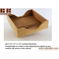 Buy cheap FSC varnish oak wood napkin holder tissue box napkin boxes Home hotel restaurant napkin boxes from wholesalers