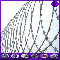 Buy cheap Razor wire -Flat Warp Razor Barbed Wire from wholesalers