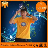 Buy cheap El sound active t-shirt,el flashing t-shirt,el switch t-shirt,unique flashing t-shirt from wholesalers