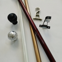 Buy cheap 0.35mm Chrome 6.7m Inside Window Frame Curtain Rod from wholesalers