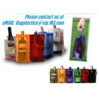 Buy cheap PVC Ice Bag, Wine Beer Gift Bags, Wine Bag, Drink Ice Bags, Portable Wine Bags Gel Ice Pack PVC Wine Cooler Bag With Han from wholesalers
