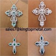 Buy cheap high quality platinum plated necklace,Made of zinc alloy&rhinestone,OEM&ODM ok from wholesalers