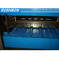 Buy cheap High Speed Metal Roof Sheet Making Machine with 15 steps , Roof Tile Roll Forming Machine from wholesalers